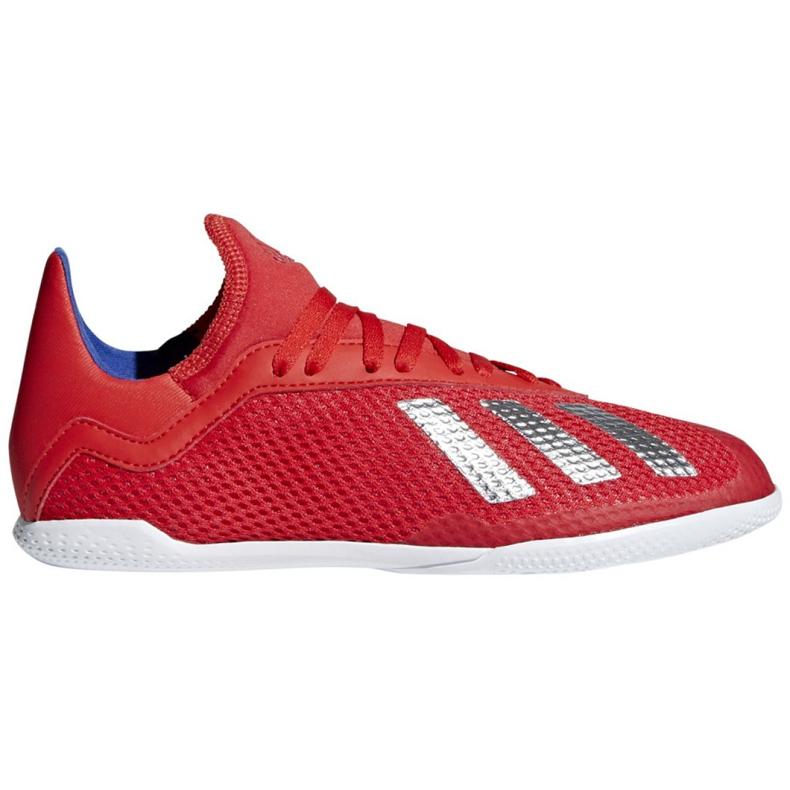 Binnenschoenen adidas X 18.3 In Jr BB9396 rood rood