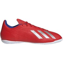 Binnenschoenen adidas X 18.4 In M BB9406 rood rood