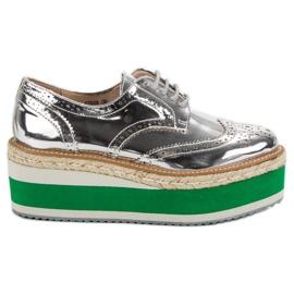 Corina Mode Wedge Schoenen grijs
