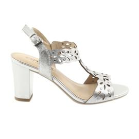 Grijs Caprice Opengewerkte sandalen 28315 zilver