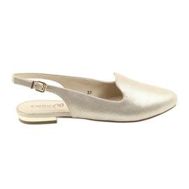 Geel Caprice lordsy gouden damesschoenen 29400