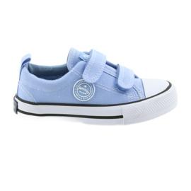Klittenband sneakers American Club LH50 blauwe kinderschoenen