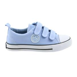 Kinder sneakers met velcro American Club blauw