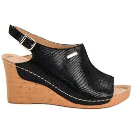Filippo Lichte sandalen op sleehak zwart