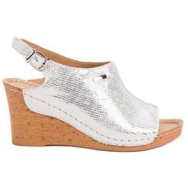 Filippo grijs Lichte sandalen op sleehak