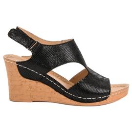 Filippo Zwarte sleehak sandalen
