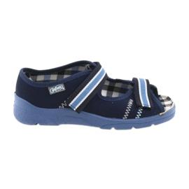 Sandalen kinderschoenen met velcro Befado 969y101 marineblauw