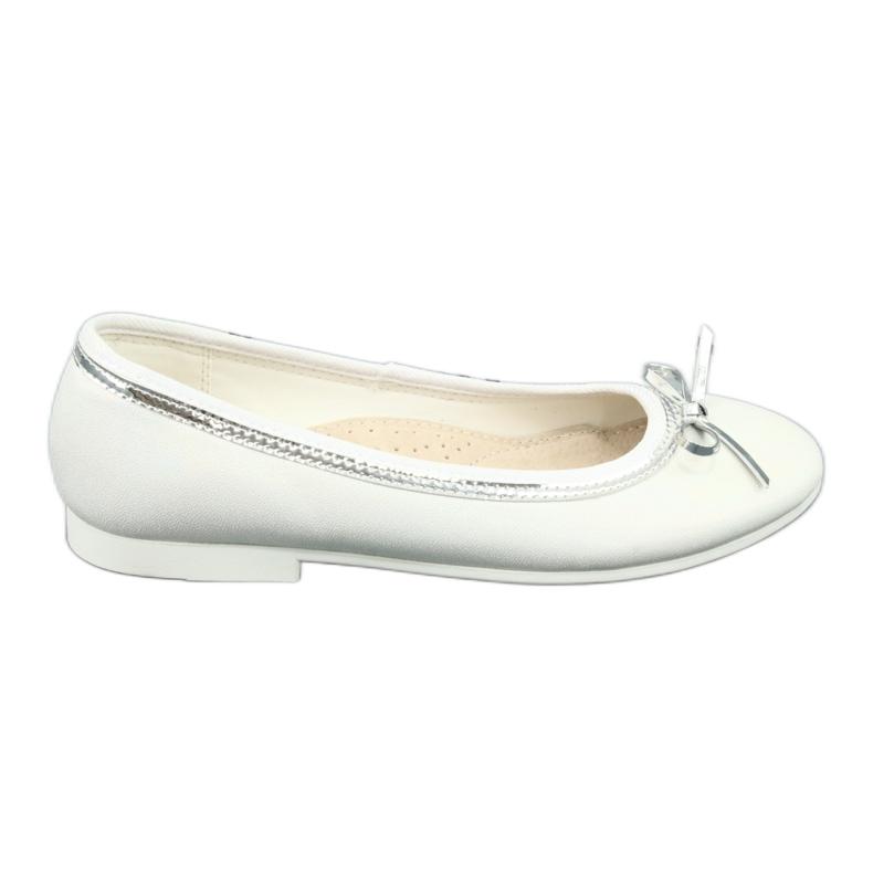 Ballerina's met strik, witte parel American Club GC29 / 19 veelkleurig