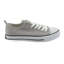 Sneakers gebonden met grijze American Club damesschoenen grijs