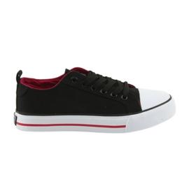 Zwarte club-gebonden sneakers American Club