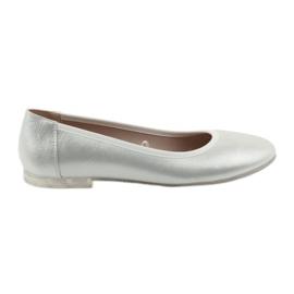 Grijs Ballerinaschoenen dames zilver Sergio Leone BL607