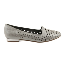 Daszyński bruin Lordsy dames stijlvolle opengewerkte schoenen 151