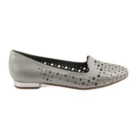 Daszyński Lordsy dames stijlvolle opengewerkte schoenen 151 bruin