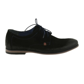Suède schoenen voor heren Nikopol 1709 zwart