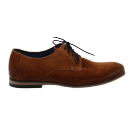 Suède schoenen heren Nikopol 1709 Camel suede