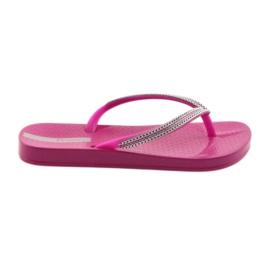 Slippers zilveren kettingen Ipanema 82528 roze