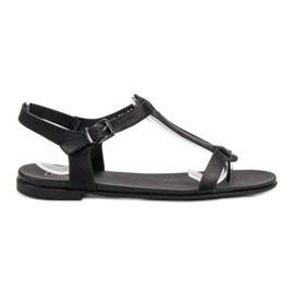 Filippo Zwarte Japanse sandalen