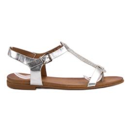 Filippo Zilveren sandalen grijs