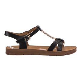Filippo Klassieke zwarte sandalen
