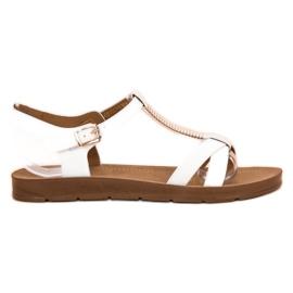 Filippo Klassieke witte sandalen
