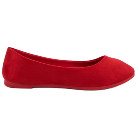 Suede Red Ballerina VICES rood