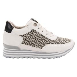 Aclys bruin Sneakers met patroon