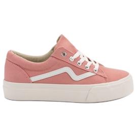 Kylie Modieuze roze sneakers