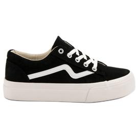 Kylie Modieuze zwarte sneakers