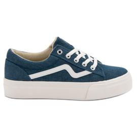 Kylie Modieuze jeans sneakers blauw