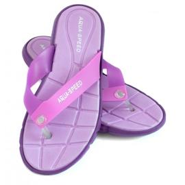 Purper Slippers Aqua-Speed Bali paars 09 479