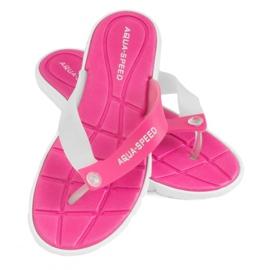 Slippers Aqua-Speed Bali roze en wit 05 479