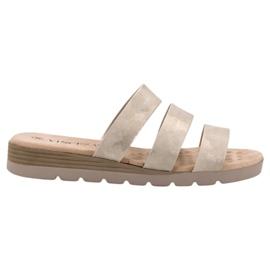 Gouden slippers VINCEZA geel