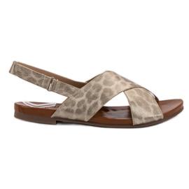 Kylie geel Gevlekte sandalen