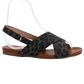 Kylie zwart Gevlekte sandalen