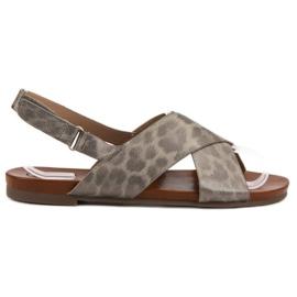 Kylie grijs Gevlekte sandalen