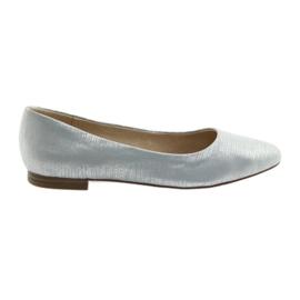 Ballerina's pumps Caprice 22104 zilverblauw