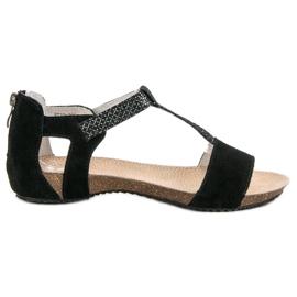 Leren schoenen VINCEZA zwart