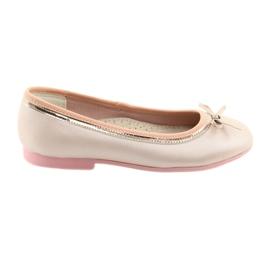 Ballerina's met een strik roze parel American Club GC14 / 19 goud