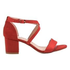 Seastar rood Suède sandalen aan een bar