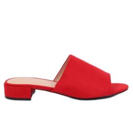 Rode slippers voor dames XW9093 Rood