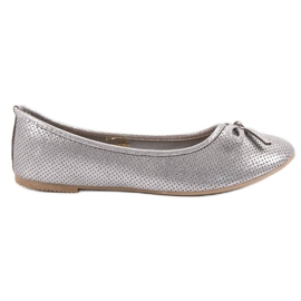 Evento grijs Zilveren Ballerina met boog
