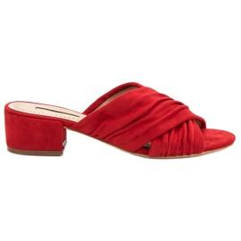 Corina rood Modieuze slippers