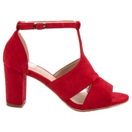 Vinceza rood Rode sandalen