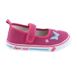 Roze ballerina's sneakers Atletico leren binnenzool