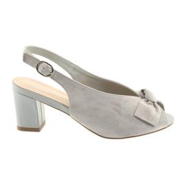 Suèdeleren sandalen Sergio Leone 801 grijs