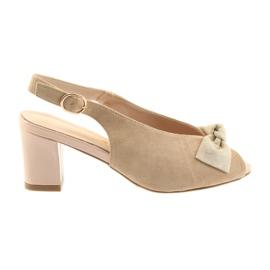 Suèdeleren sandalen Sergio Leone 801 bruin