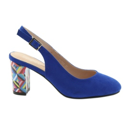 Blauw Sandalen op de post Sergio Leone 788 indigo mic