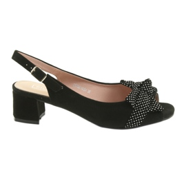 Filippo 788 zwarte / stippen sandalen