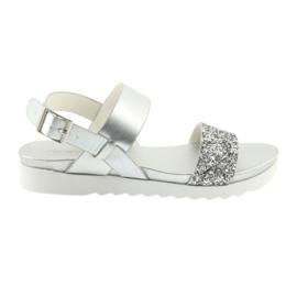 Comfortabele zilveren sandalen Filippo 685 grijs