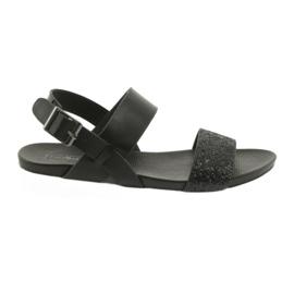 Comfortabele zwarte sandalen Filippo 685 brokaat